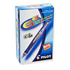 G6 Retractable Gel Pen Blue Rubber Barrel, Smear Proof 12/Box