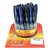 FriXion Ball 48pc Display w/test pad 36 black and 12 blue 48/Case