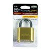 "Defense2 Resettable Combination Lock, 2"" Solid Brass, 4/Case"