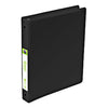"1"" Black 3-Ring Binder with Non-Glare Insert Cover and Inside Pockets"