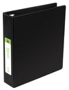 "2"" Black 3-Ring Binder (NO COVER SLEEVE), includes Inside Pockets"