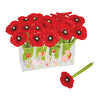 Red Poppy Ballpoint Pen Display (includes acrylic display holder) Black Ink, 24 pens/display