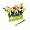 Calla Lily Ballpoint Pen Display (includes acrylic display holder) Black Ink, White/Yellow/Purple, 24 pens/display