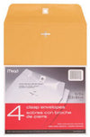 "76012 Mead 9""x12"" Kraft Clasp Envelopes, 4 envelopes/retail pack, 12 retail packs/case"