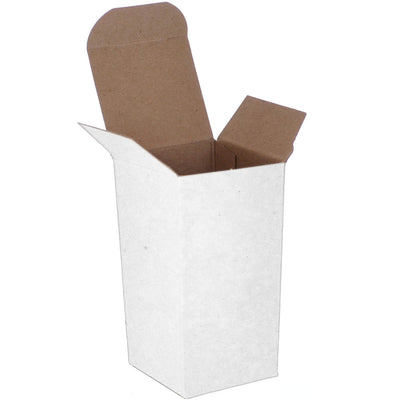 2 x 2 x 4 White 24pt 1-pc Chipboard Folding Carton 1000/Case