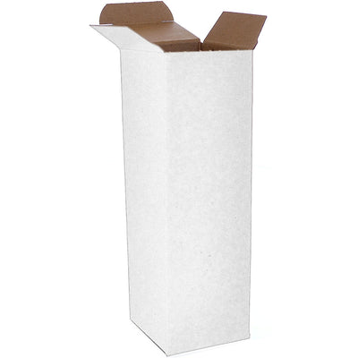 2 1/2 x 2 1/2 x 8 White 24pt 1-pc Chipboard Folding Carton 250/Case