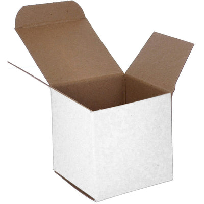 4 x 4 x 4 White 24pt 1-pc Chipboard Folding Carton 250/Case