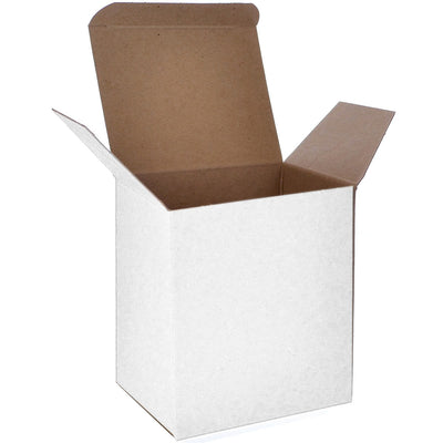4 1/2 x 3 1/2 x 5 White 24pt 1-pc Chipboard Folding Carton 250/Case