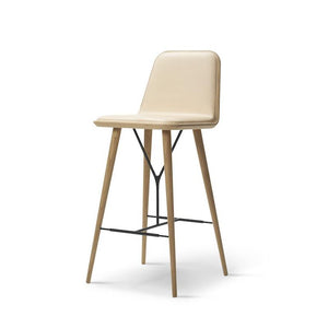 Spine Wood Base Bar Stool