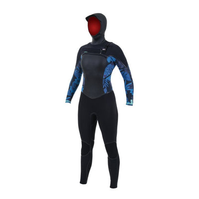 O'neill Damen Psycho Tech 6/4+ Chest Zip Hooded Wetsuit