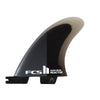FCS II Reactor PC Medium Charcoal/Black Quad Rear Retail Fins