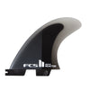 FCS II Reactor PC Small Charcoal/Black Tri Retail Fins