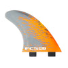 FCS PC-7 Orange Smoke Quad Retail Fins