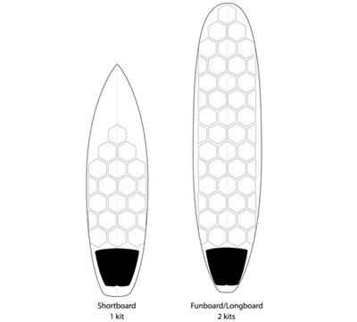 RSPro HexaTraction Surf Board Grip Clear