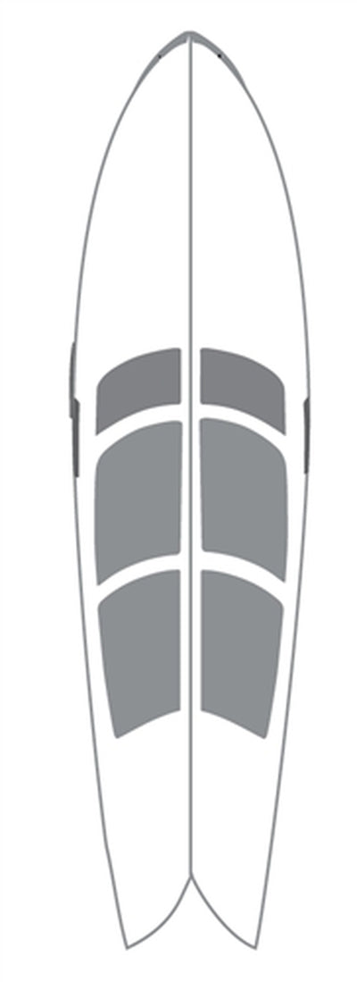 "SurfCo Hawaii Wax Mat Kit - 6'6"" Short Board"
