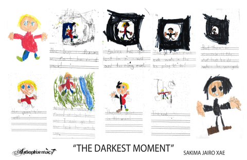 "MOMENT - ""THE DARKEST MOMENT"" POSTER BY SAKIMA JAIRO-XAE (6yo)"