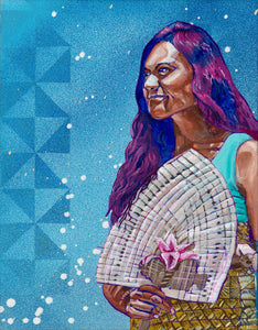 Desi Mundo Artist Prints of the late - Jennifer 'Ana Finefeuiaki (Tongan)