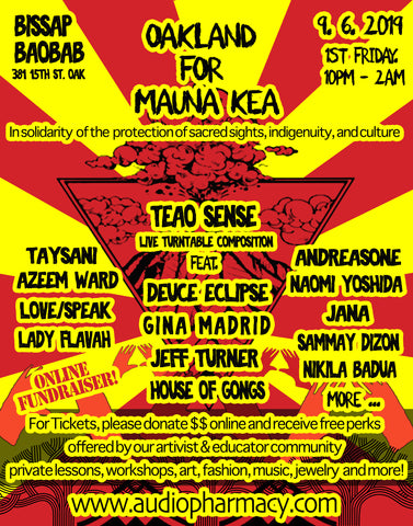 "Early-Bird Admission to the ""Oakland For Mauna Kea"" Event 9/6/19"