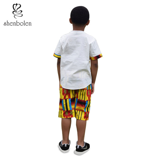 Kente Shorts and Shirt set