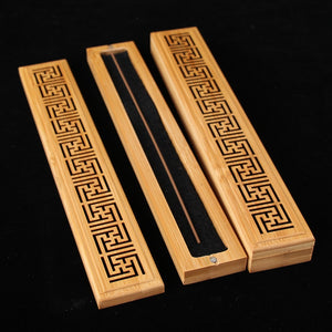 Carved Bamboo Incense Burner