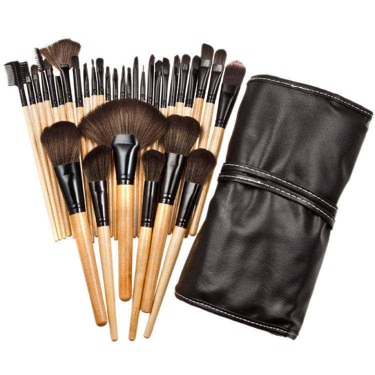 32pcs Professional Soft Cosmetic Eyebrow Shadow Makeup Brush Set Kit + Pouch Bag - Dirty girl cosmetics