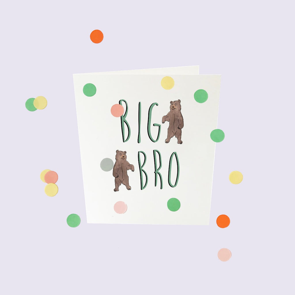 CONFETTI CARDS BABY - BIG BRO