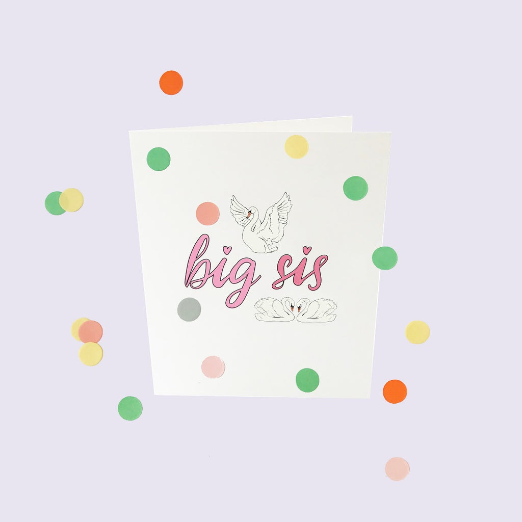 CONFETTI CARDS BABY - BIG SIS