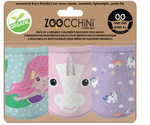 Reusable Face Mask 3 Pack Unicorn
