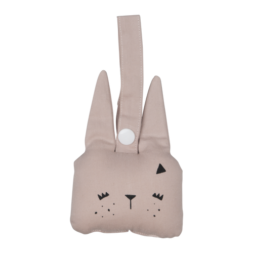 Animal Rattle - Bunny - Mauve