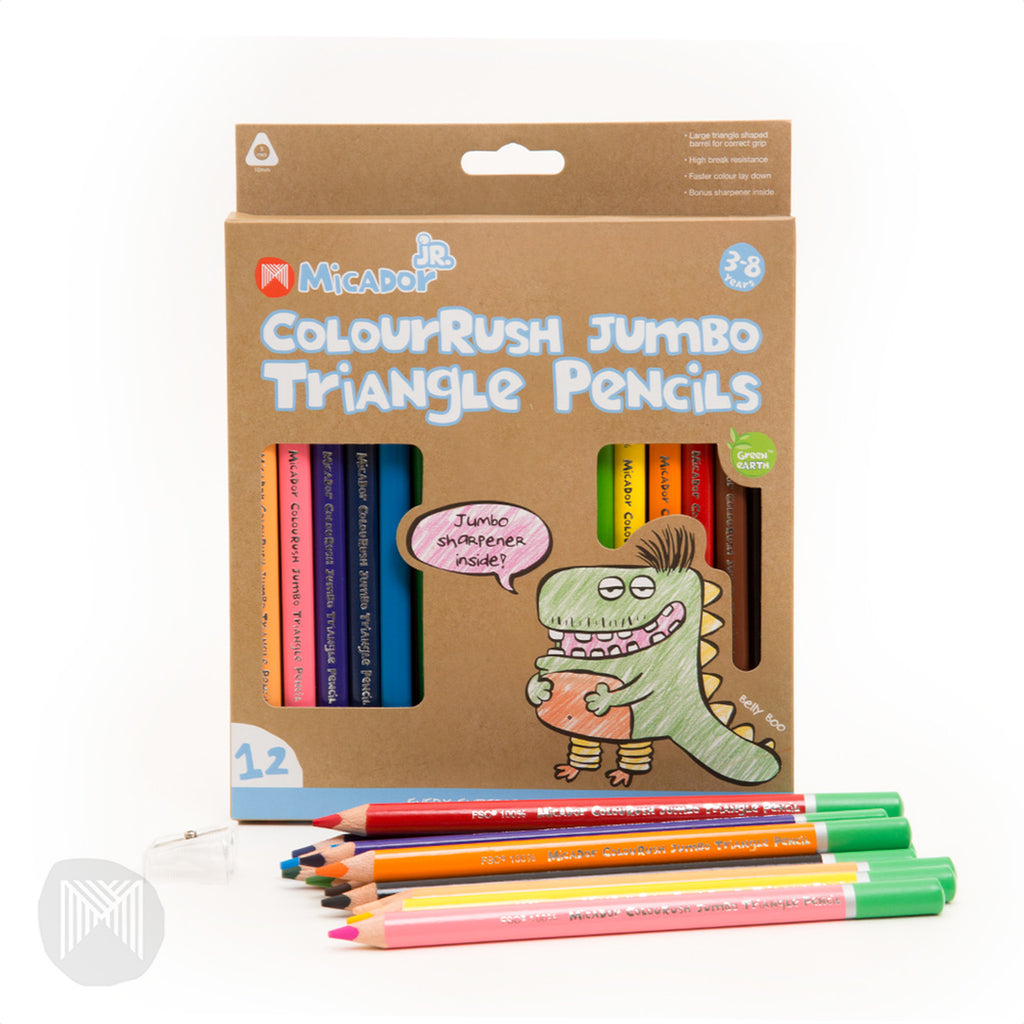 ColourRush Jumbo Triangle Pencils
