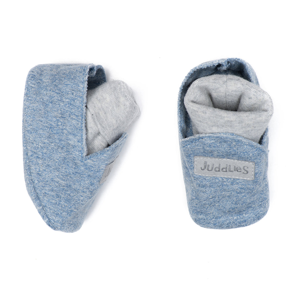 Organic Raglan Slipper - Denim Blue