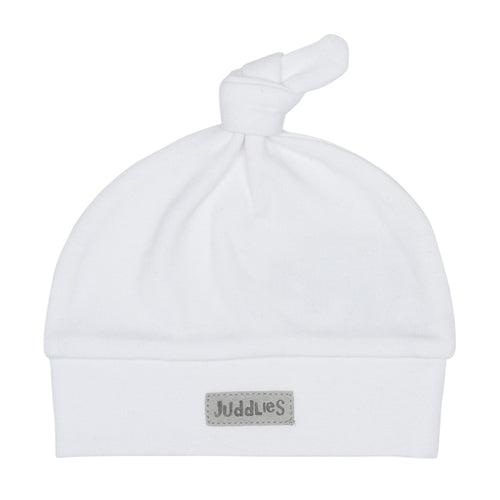 Organic Hat- White & Grey - 0-3M