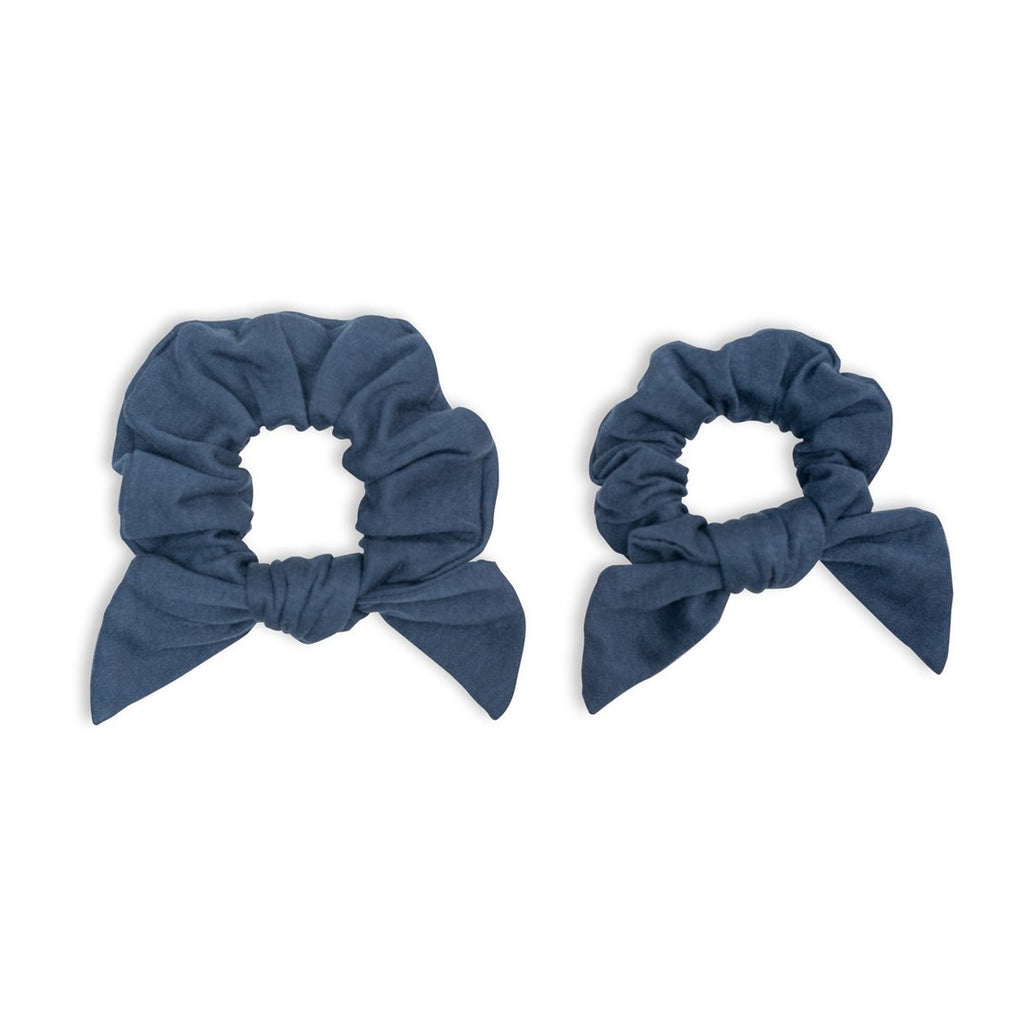 Bamboo Mummy + Me Scrunchies - Navy