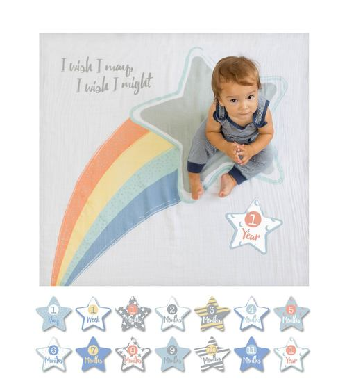 Baby's First Year Blanket  & Cards - I Wish I May, I Will
