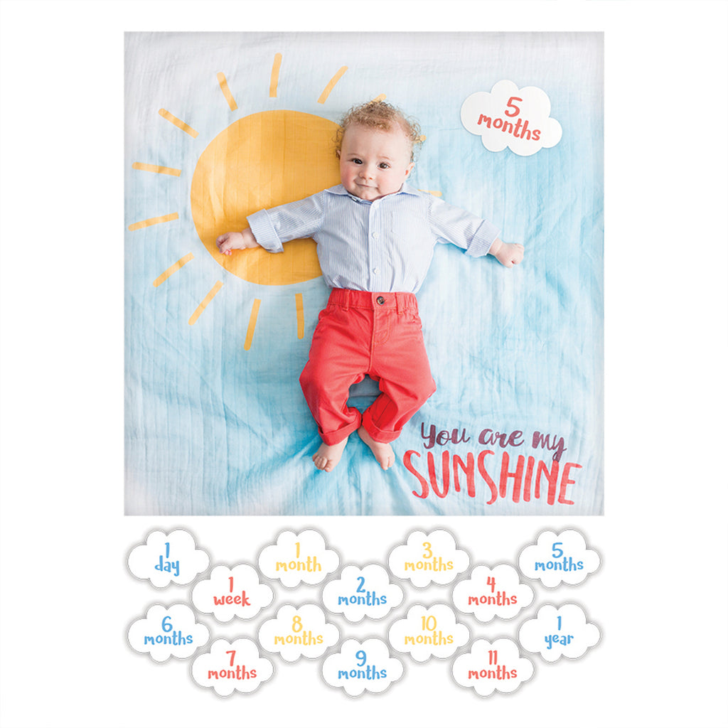 Baby's First Year Blanket & Cards - You are my Sunshine