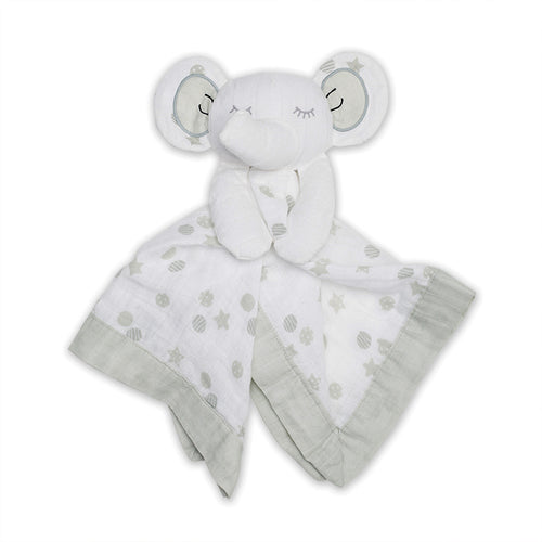 Cotton Muslin Lovie - Grey Elephant