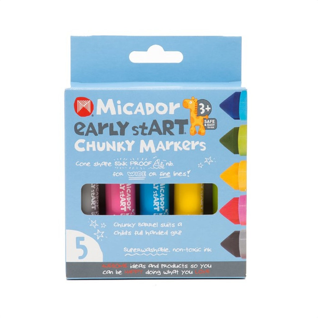 MICADOR Chunky Markers, Pack 5 early stART