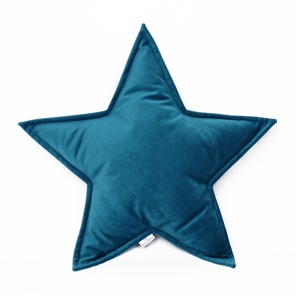 Velvet Star Cushion -  Turquoise