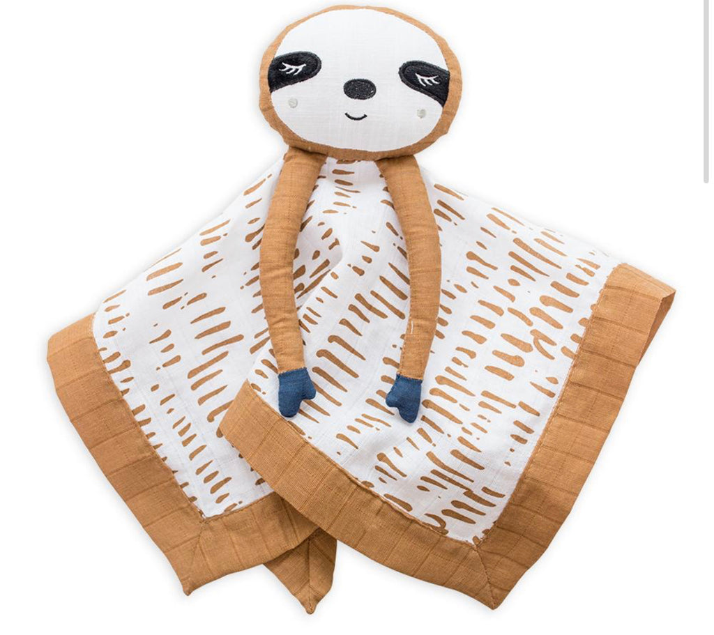 Cotton Muslin Lovie - Sloth