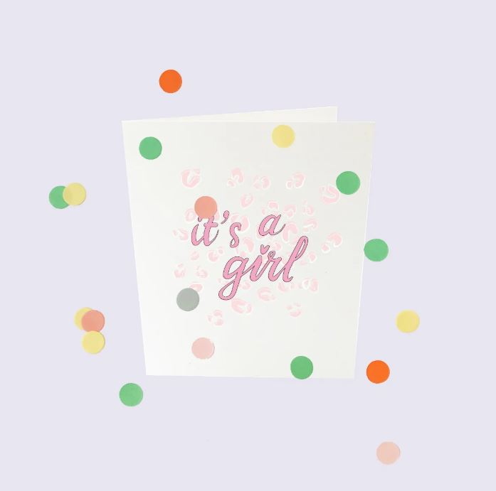 CONFETTI CARDS BABY - IT'S A GIRL