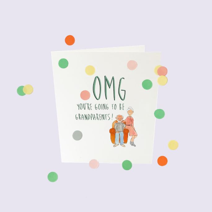 CONFETTI CARDS BABY - OMG YOU WILL BECOME GRANDPARENTS