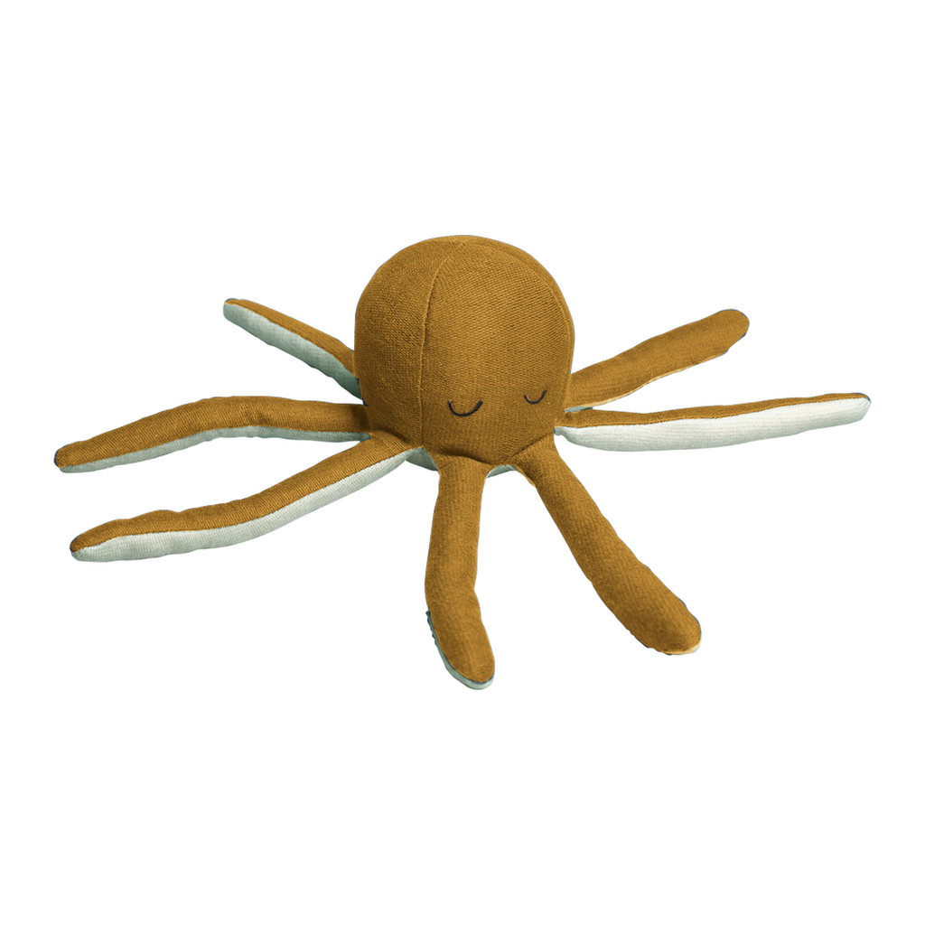Rattle Soft - Octopus - Ochre / Beach Grass