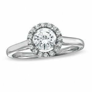 0.75 CT. T.W. Diamond Framed Engagement Ring in 14K White Gold