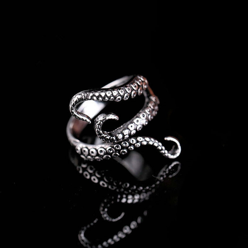 Deep Sea Squid Octopus Finger Ring Fashion Jewelry Opened Adjustable Size