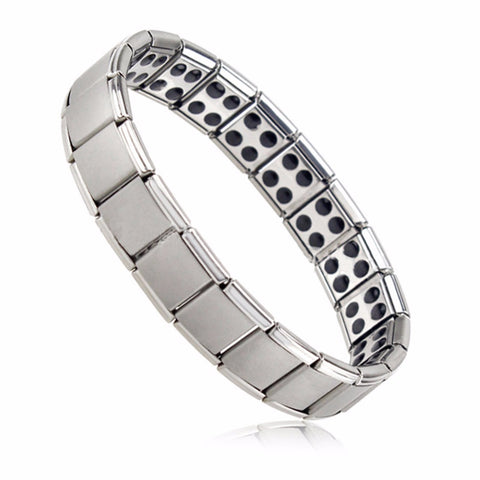 Men's Germanium Titanium Steel Elastic Stretch Bracelet Bangle For Men
