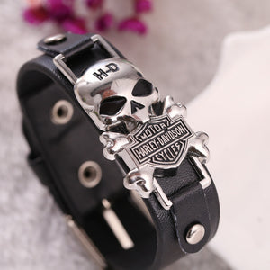 New Punk Bracelet Alloy Scorpio Dragon Skull Mask Anchor Leather Jewelry
