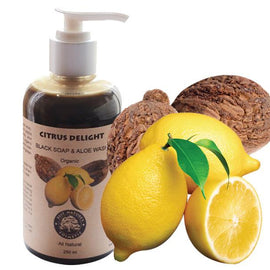 Citrus Delight. Black Soap & Aloe Wash (Organic)