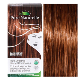 Pure Organic Herbal Hair Colour: DARK BROWN by Manas PURE NATURELLE