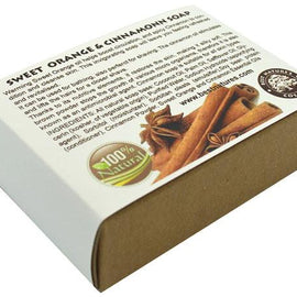 Sweet Orange & Cinnamon Organic Soap. All Natural SLS Free 120g.