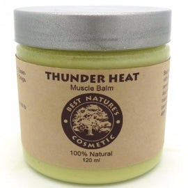 Thunder Heat Muscle Balm - to cool down pain, reduce burning, gives relaxing uplifted feel to your skin. 4oz / 120 ml.